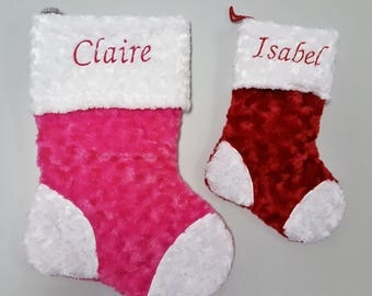 Custom Holiday Stocking with Faux Fur Trim