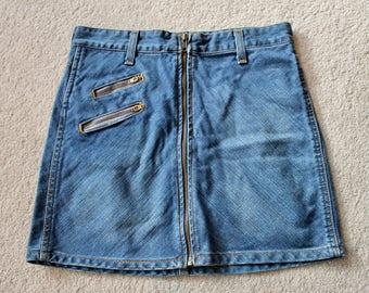 Vintage 1970s Wrangler Denim Skirt size XS