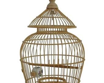 Sales Chinese Oriental Pagoda Shape Bamboo Wood Birdcage Display cs1964