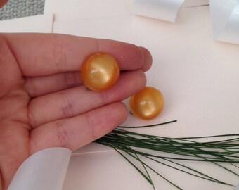 Orange Earrings - Screw Back Earrings - Clip on Earrings - Vintage Earrings - Unique Earrings - Burnt Orange - Vintage Jewelry - Jewellery