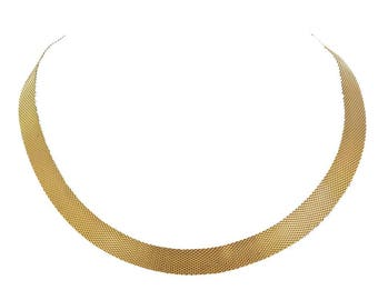 Collier plat en or jaune ancien