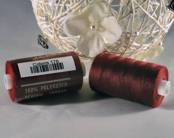 Spool of thread sewing 100% polyester each containing 1000 yards (approx. 914 m) / 178 Burgundy