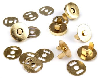 SECOND CHOICE : Pack of 5 Magnetic Snap Closures Ø18 mm nickel