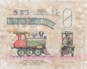 train toy print