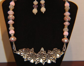 Floral Splendor Necklace and Earrings