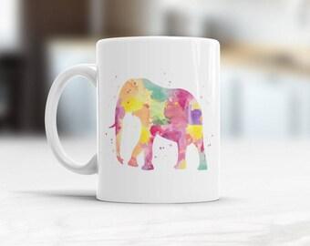 Elephant Coffee Mug, Elephant Mug, Animal Tea Cup, gifts for elephant lovers, birthday present for wife, Cool Elephant Valentines Present