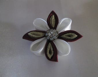 Satin flower hair clip