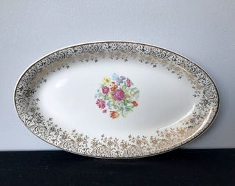 Vintage Steubenville Oval Relish Tray - STB118