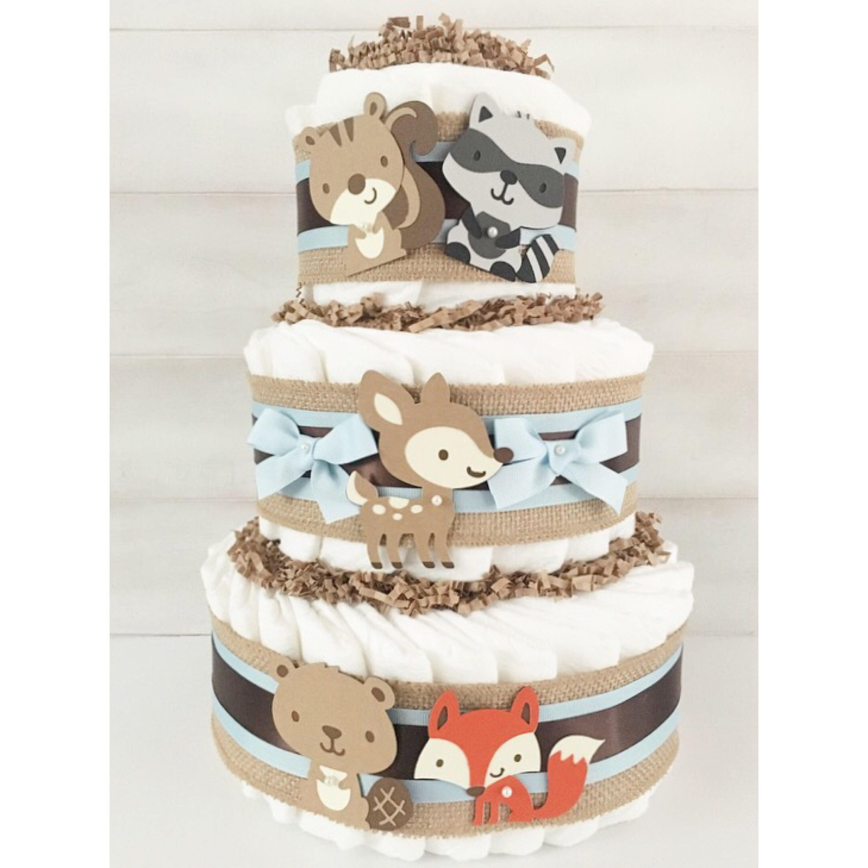 Diaper Cake Woodland Animal Diaper Cake Forest Animal