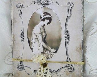 Picture Collage ' Art déco ' nostalgic unique handmade