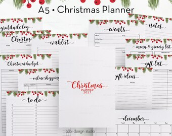 Christmas Planner, A5 Planner Inserts, Printable Planner, Holiday Planner, Christmas Organizer, A5 Insert, Christmas Printable, Gift planner