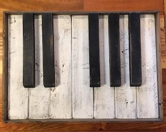 Key Wall Art piano key wall art | etsy