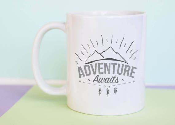 Adventure Awaits Coffee Mug with gift box