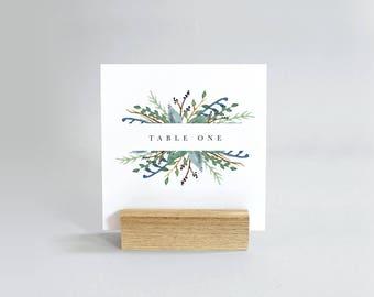 Botanical Leaf Table Number Template  -  Editable Table Numbers  -  Printable DIY Wedding Stationary