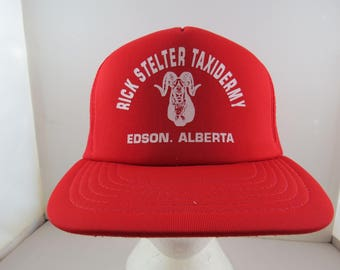Vintage Trucker Hat - Rick Setler Taxidermy Big Horn Sheep - Adult Snapback