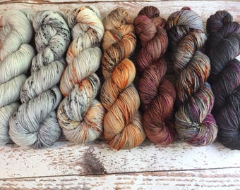 PREORDER - 7 Skein Fade Kit #1 - Hand Dyed Yarn