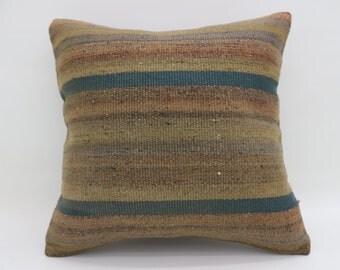 20x20 Pillows Faded Pillows Brown Pillows Tribal Pillows Boho Turkish Pillows Big Throw Pillows Large Cushion Cover Kilim Pillow SP5050-2623