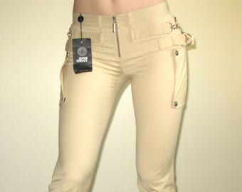 GIANNI VERSACE Couture New With Orig Tag Beige Color Pants