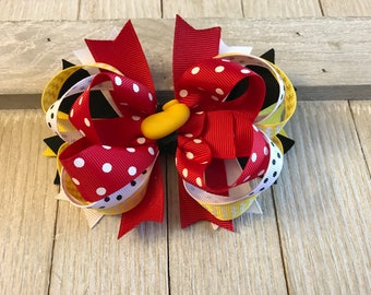 Disney Inspired Hair Bow - Minnie Mouse Hair Bow
