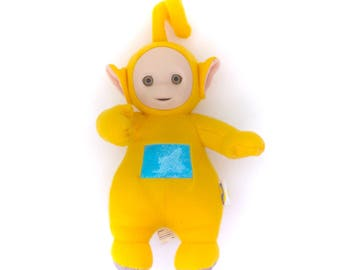 Vintage Teletubby Yellow Laa-Laa Talking Singing Plush Soft Toy Teletubbies Kawaii Plushie Stuffed Doll Retro Original 90s TV Cartoon Rare