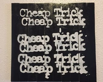 Handmade Cheap Trick Wood Wall Art