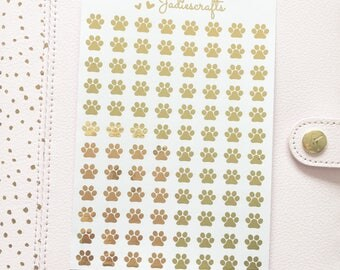 Foil Paw Stickers | Planner Stickers