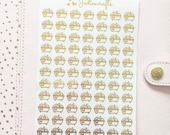 Foil Bubble Bath Stickers | Planner Stickers