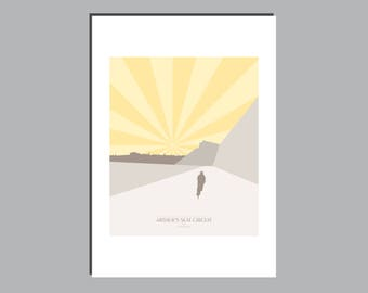 Cycling Art Graphic Print - Cycle Route - Arthur's Seat Circuit, Edinburgh