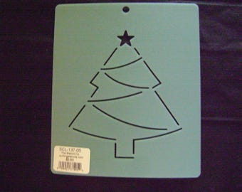 Quilting Stencil 5 in. Christmas Tree Block/Embroidery/Holiday Crafting