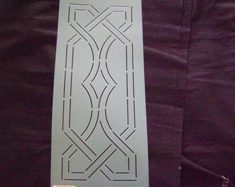 Sashiko Japanese Embroidery Stencil 4.5 in. Celtic Diamond Motif Border/Quilting