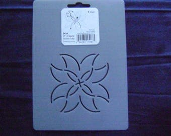 Sashiko Japanese Quilting/Embroidery Stencil 3 in. Sweet Tulip Motif Block /Quilting/83