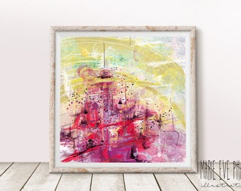 """Abtract Art, """"Intensity""""/ Art print / Wall art / Graphic paintings / Home decor"""