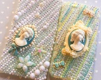 For IPhone 6/6S & iPhone 6 plus - Blue Ladies - Rhinestones Phone case