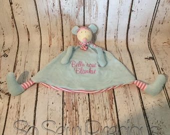 Personalised Cubbie Comforter, New Baby Gift, Mouse, Personalized Stuffie Blankie