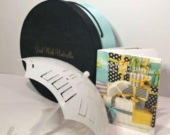 Good Wish Umbrella® Bridal | Baby Shower Novelty Gift Set (Turquoise/ Black Lid)
