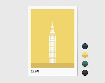 Big Ben, London Print | London Artwork | London Illustration | Architecture Print | City Print