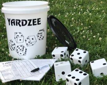 Yardzee or Farkle Lawn Dice Yard Game, Giant Yard Game, Yard Yahtzee, Outdoor Games, Camping, Farkle