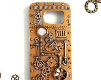 Steampunk Samsung Galaxy S7 Case. Android Phone Case. Steampunk Case. Steampunk Phone Case. Vintage Steampunk Design. Victorian Style. Gears
