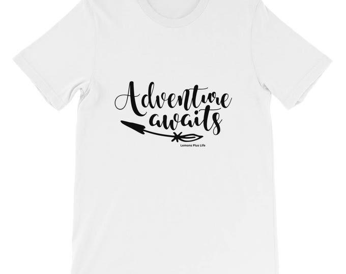 "Bella Canvas Short-Sleeve Unisex T-Shirt ""Adventure Awaits"""