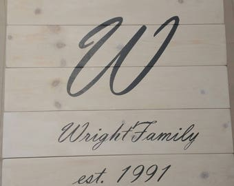 Custom Made Family Name Sign