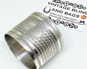 Vintage WMF napkin ring, vintage napkin ring, Silver plated napkin ring, named napkin ring, antique napkin ring, Silver plate napkin ring