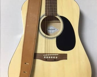 Guitar strap - Tan Cowhide