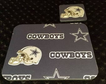 Dallas Cowboy Mouse Pad and Coaster Set