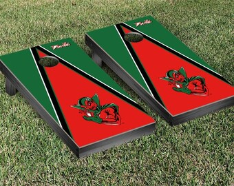 Mississippi Valley State Delta Devils Regulation Cornhole Game Set Triangle Designs
