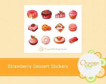 Strawberry Dessert Stickers