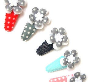 """Hair clip for baby & girl """"SALOME"""" - french Baby Hair Clip"""
