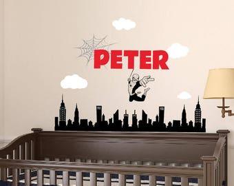Spiderman Wall Decal - Superhero Wall Decal