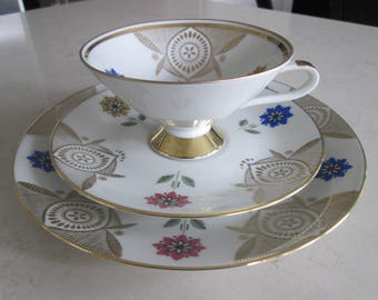 Bavaria Tea Cup, Saucer and Dessert Plate