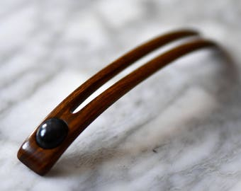 Staff Forke-hybrid from weatherproof Palo Santo with Labradorite 10/8.5/1,3 cm 6 g