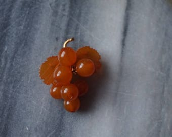 Vintage Russian Amber grape brooch
